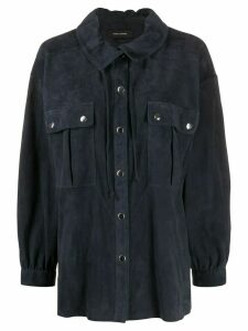 Isabel Marant Alambari suede shirt - Blue