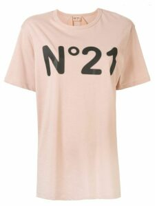 Nº21 logo loose-fit T-shirt - PINK