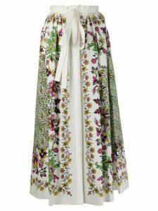 Givenchy floral print midi skirt - White
