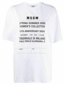 MSGM SS20 oversized T-shirt - White