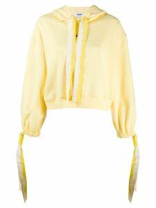 MSGM logo-print drawstring hoodie - Yellow