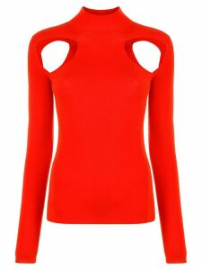 Dion Lee cut-out jumper - Red