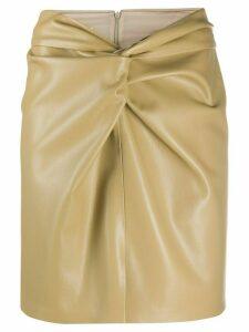 Nanushka faux leather twist knot skirt - NEUTRALS
