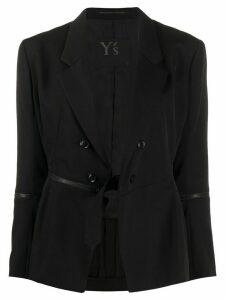 Yohji Yamamoto deep V-neck blazer - Black