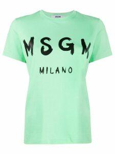 MSGM logo print T-shirt - Green