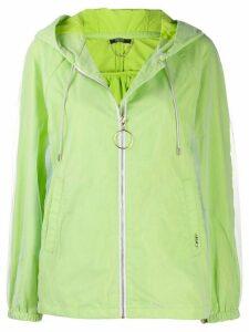 LIU JO hooded zipped jacket - White