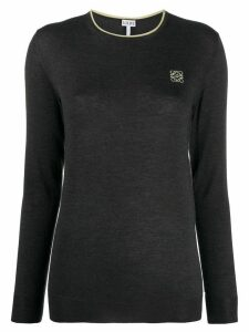 Loewe Anagram embroidered jumper - Grey