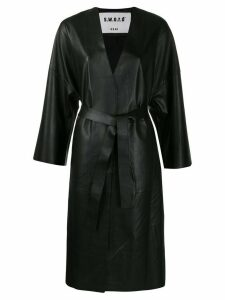 S.W.O.R.D 6.6.44 belted leather coat - Black