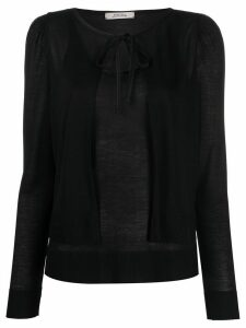 Dorothee Schumacher Shiny Essentials knitted twinset - Black