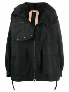 Nº21 zipped long-sleeve jacket - Black