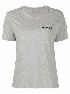 Zadig & Voltaire logo embroidered round neck T-shirt - Grey