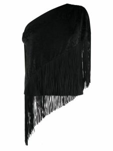MSGM asymmetric fringe-trimmed blouse - Black