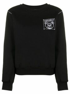 Moschino Teddy Bear embroidered crewneck sweatshirt - Black