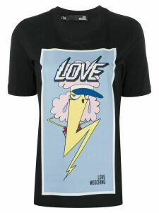 Love Moschino lightening print T-shirt - Black