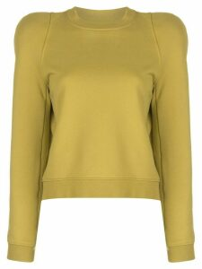 Tibi sculpted shoulder sweatshirt - Yellow