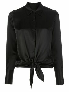 Nili Lotan silk knot detail blouse - Black