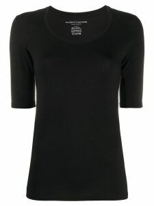 Majestic Filatures scoop neck fitted top - Black