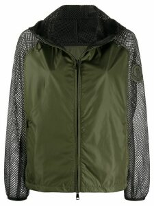 Moncler net-detail jacket - Green