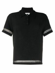 Barrie terrycloth polo shirt - Black