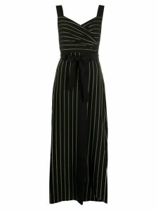 Emporio Armani pinstriped print dress - Black