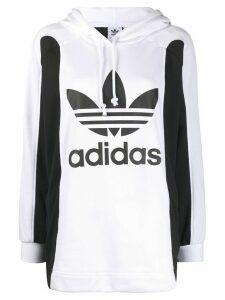 adidas logo print hoodie - Black