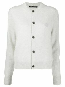 Acne Studios face-motif cardigan - Grey