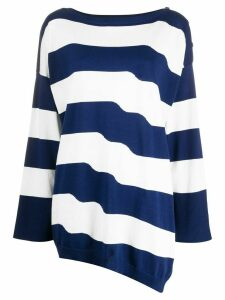 Twin-Set oversized striped jumper - Blue
