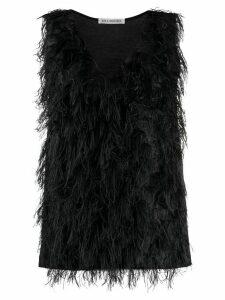 Lis Lareida Metty feather-embellished top - Black