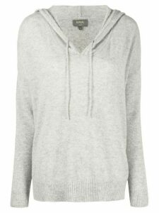 N.Peal hooded cashmere jumper - Grey