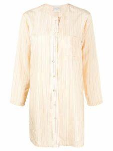 Forte Forte striped longline shirt - NEUTRALS
