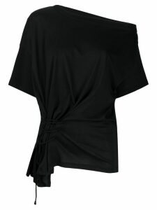 Ann Demeulemeester drawstring detail top - Black