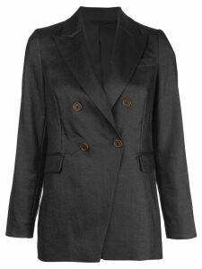 Brunello Cucinelli fitted double breasted blazer - Black