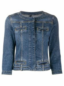 LIU JO embellished denim jacket - Blue