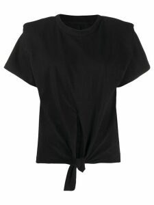Isabel Marant Belita tie-front cotton T-shirt - Black