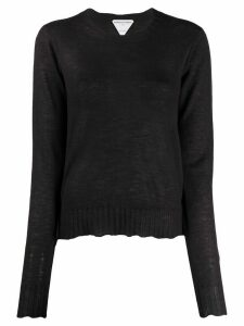 Bottega Veneta sheer scalloped jumper - Brown