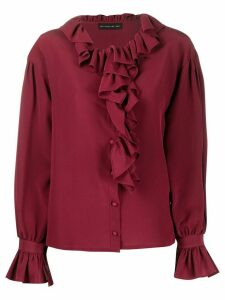 Etro ruffle-trimmed shirt - Red