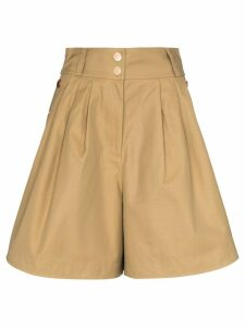 See by Chloé high-waisted button shorts - NEUTRALS
