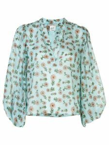Alice+Olivia patterned blouse - Blue