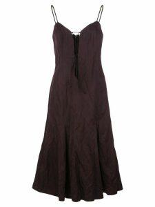 Brock Collection Quanda tie-fastening dress - PURPLE