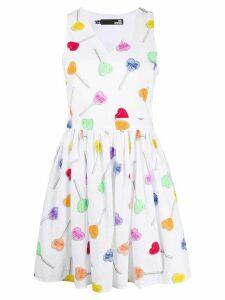 Love Moschino heart print dress - White