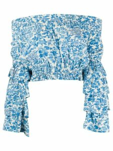 Polo Ralph Lauren off the shoulder floral blouse - Blue
