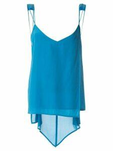 Taylor Inflection silk cami top - Blue