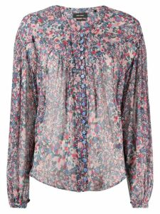 Isabel Marant Orionea printed blouse - Blue