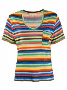 Chinti and Parker striped print T-shirt - Blue