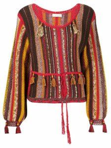 Etro tassel knitted top - Brown