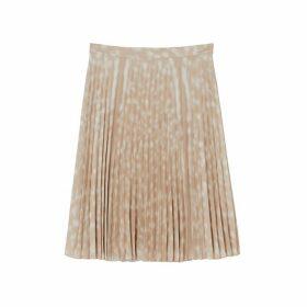 Burberry Deer Print Pleated Skirt
