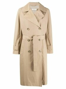 Peserico double breasted trench coat - NEUTRALS