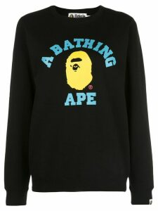 BAPE Colors College crewneck sweatshirt - Black