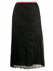 Helmut Lang pleated pull-on skirt - Black
