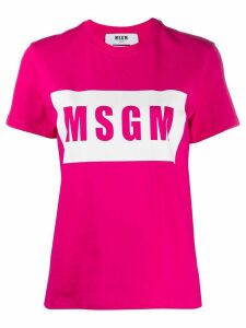 MSGM graphic logo-print T-shirt - PINK